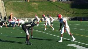Pittsburg State WR John Brown goes up against Lindewood CB Pierre Desir last fall in St. Charles, Mo.