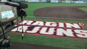Niles Media Group gets ready for Louisiana-Lafayette NCAA Baseball regional.